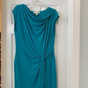 Michael Kors teal dress. Worn only once!